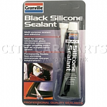 GRANVILLE BLACK SILICONE SEALANT ADHESIVE MULTI PURPOSE WATERPROOF FLEXIBLE
